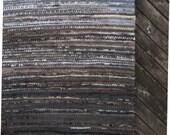 Large Handwoven rag rug - 5.9' x 8.2'-,,grey rock'' reserved for Maria Kartalova