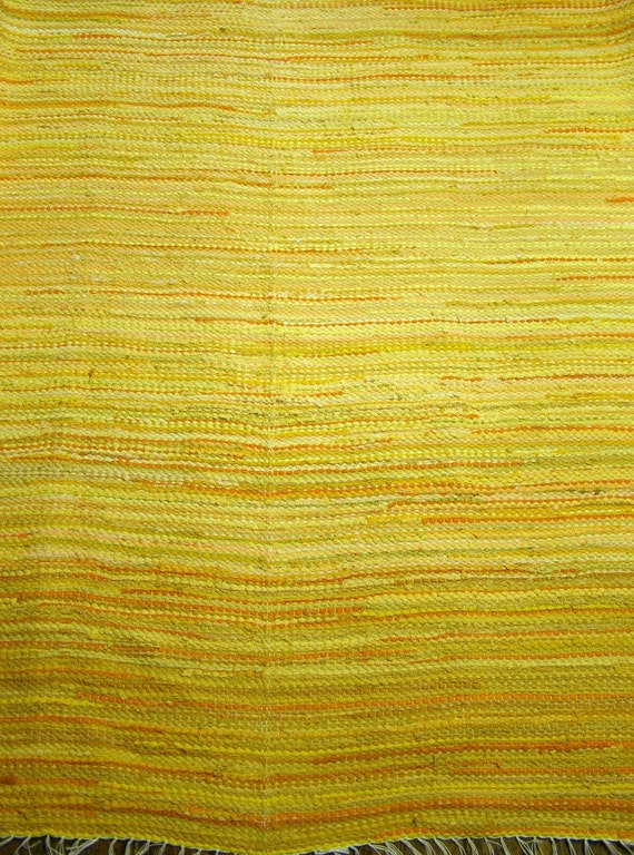 Large handwoven rag rug ,,Sunny Day'' MADE TO ORDER