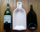1.5L STONEWARE  single well wine bottle slumping mold