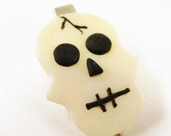 Skull Barette, Glow in the Dark