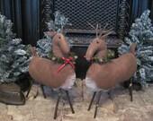 Primitive Reindeer, Prim Reindeer, Folk Art Reindeer
