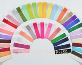 25-Partially Lined Single Prong Alligator Clips U Pick Color