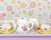 Ceramic Tea Set for Girls Tea Party