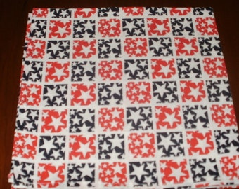 Sale ..12 Dinner Napkins... Stars...17 inches...Stitched Hems Not Serged...FREE SHIPPING