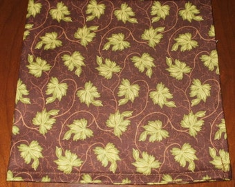 Sale...8 Ivy Cloth Napkins...17 inches...Stitched Hems NOT Serged...FREE SHIPPING