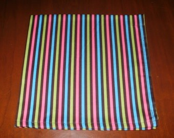 6 Lg. Stripe Dinner Napkins...17 inches...Stitched Hems NOT Serged...FREE SHIPPING