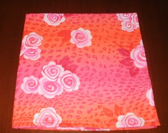 Sale...4 Bright Dinner Napkins...17 inches...Stitched Hems NOT Serged...FREE SHIPPING