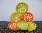Vintage Lemon Lime Orange Coasters - M