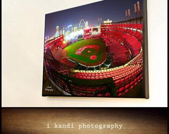 16x20 Canvas Wrap Busch Stadium St. Louis