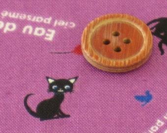 Kawaii CAT printed  japanese fabric Purple color half yard