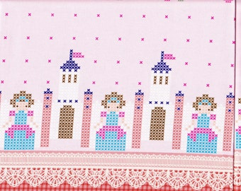 Princess printed fabric  One yard