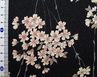 Japanese kimono cotton fabric sakura printed