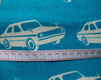 Echino fabric FQ car  printed