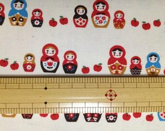 FQ Matryoshka doll printed Japanese fabric Russian doll