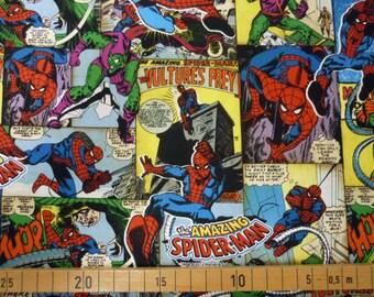 Spider-Man comic book  fabric Half yard