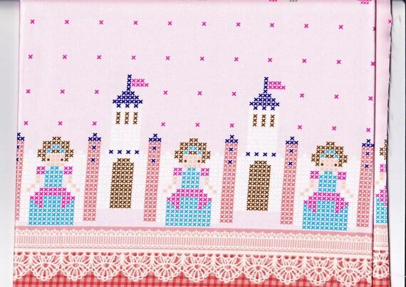 Princess printed fabric  One yard