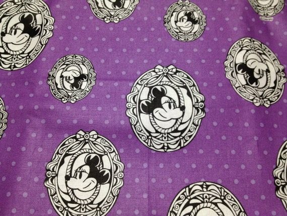 1 Yard  elegant Disney fabric Mickey mouse printed purple color