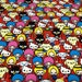 One yard Hello kitty  fabric red colour Japanese anime printed