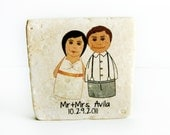 custom wedding favors, 50 caricature magnets