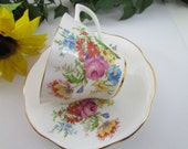 Wild Flowers Bone China Cup and Saucer