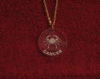 Cancer Acrylic Pendant