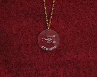 Scorpio Acrylic Pendant