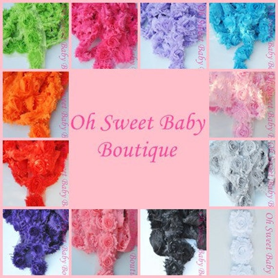 "Shabby Chiffon Flower QTY 48 ""Pick Colors"""