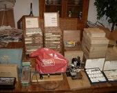 Vintage Kingsley Complete Foil Stamping Machine Set Up