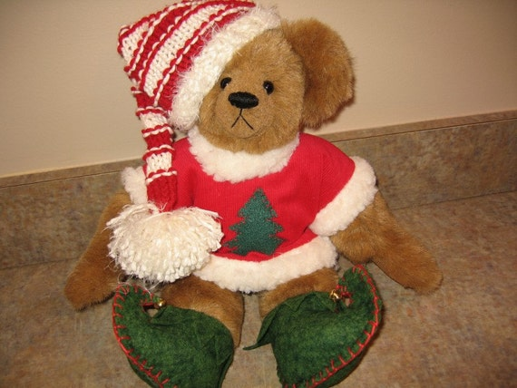 "NOW ON SALE - Jangles, 14"" Christmas Artist Bear"
