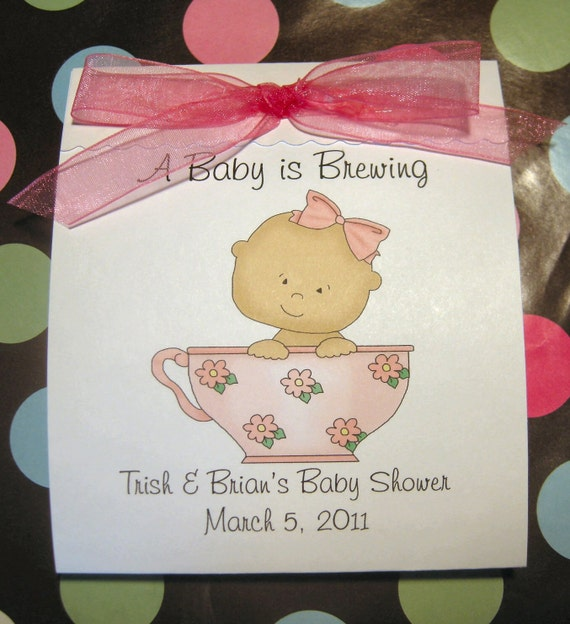 to baby shower tea bag tea party favors for baby girls a baby