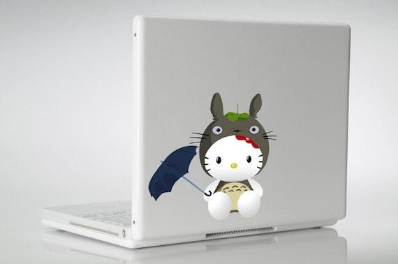 hello totoro vinyl decal sticker laptop macbook by rebelgraphx