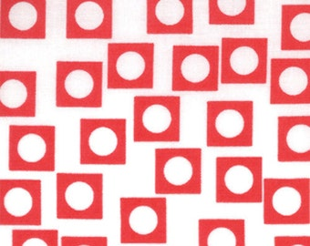Moda Quilt Fabric Sherbet Pips Play Dots in Vanilla Cherry by Aneela Hoey 18506-12