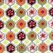 Hoffman Quilt Fabric Petal Punch Flowers - G3104-130 Multi - Orange