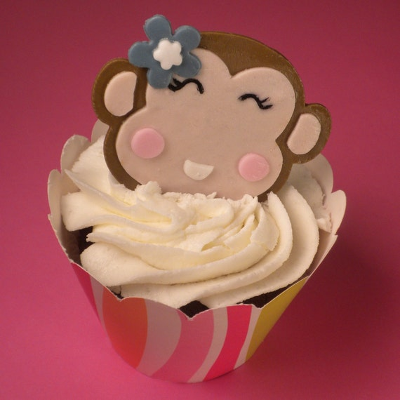 how to make monkey fondant toppers