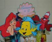 Little Mermaid Ariel Themed Personalized Table Toppers / Centerpiece 1 set