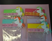Custom order for rburkedc Rainbow Princess Unicorn / Pegasus  Thank You Goodie Bags (Set of 5)