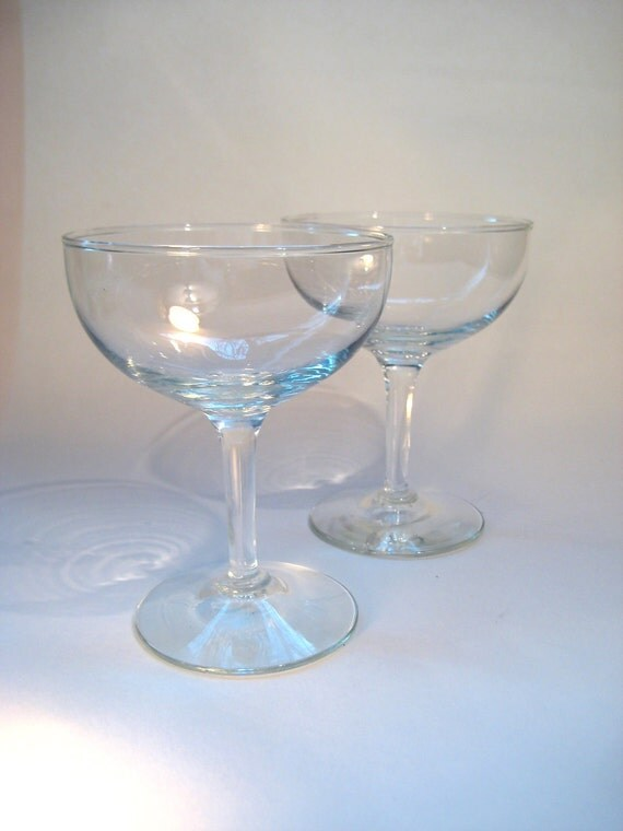 Pair of Vintage Cocktail or Champagne Coupes