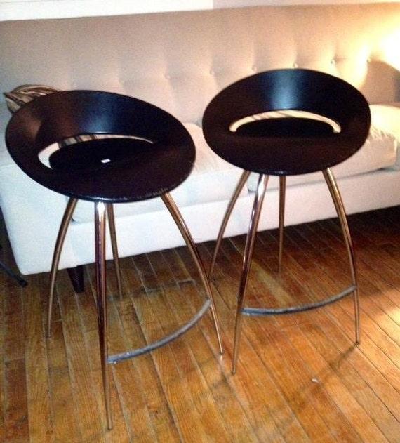 Lyra Magis Stools Danish Chrome Bar Stools Herman Miller Pair