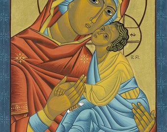 Icon of Mother of Solace Print - Catholic Religious Art