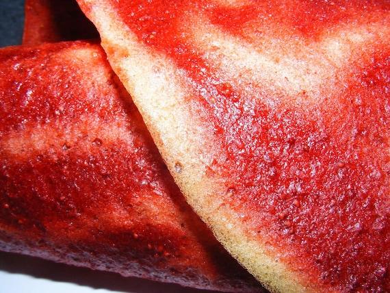 Strawberry Pineapple swirled Fruit Leather
