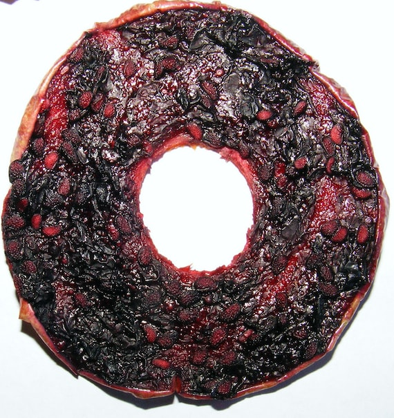 Blackberry glazed Apple Slices