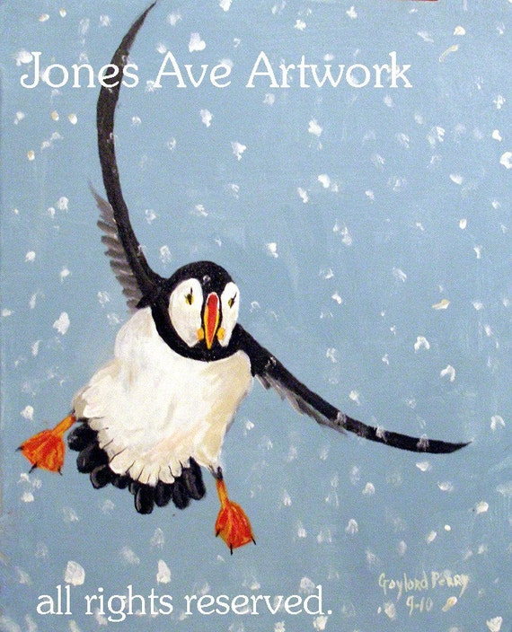 A Playful Puffin, A Gaylord Perry Painting