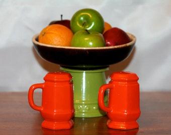 Vintage Japanese Orange Salt and Pepper Shakers