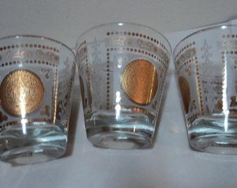 Vintage Aztec Design Highball Glasses
