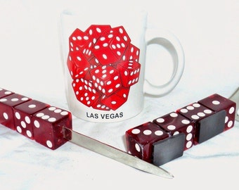 Las Vegas Coffee Mug with Matching Dice & Letter Opener