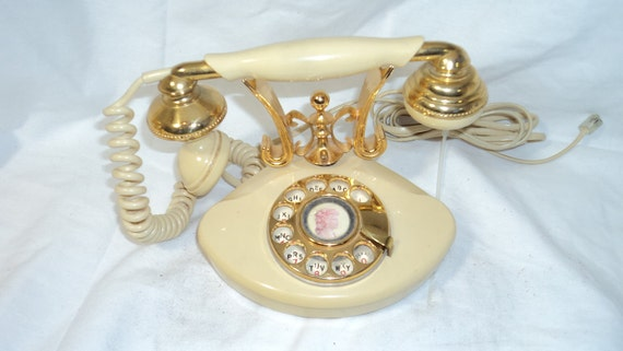 Vintage Rotary Dial French Style Telephone 1970s
