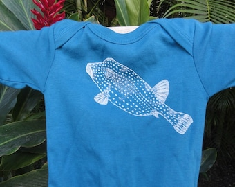 Fugu Pufferfish Long Sleeved Mediterranean Baby Onesie Te'e Te'e