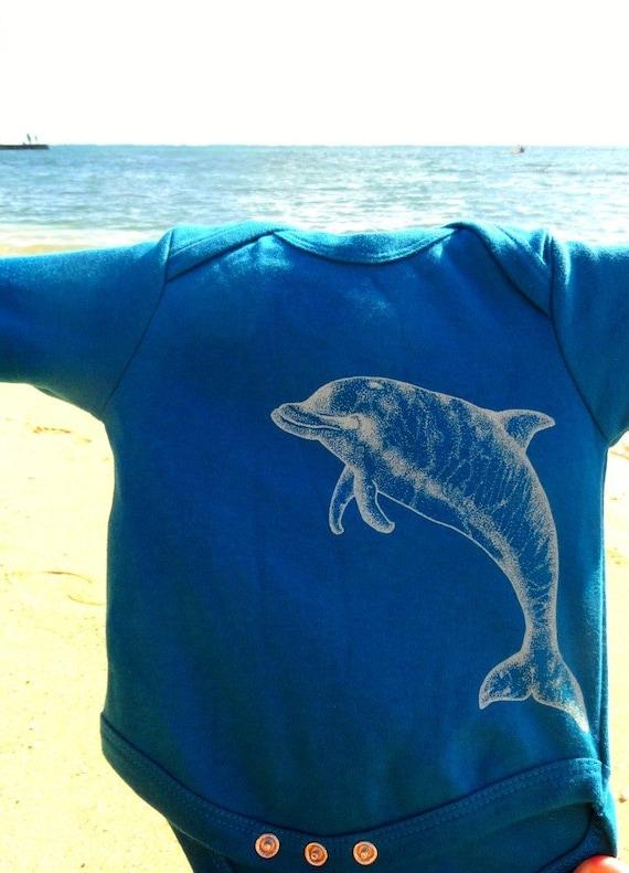 Naia Dolphin, Short Sleeve Mediterranean Onesie