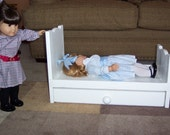 Trundle Doll bed fits American girl 18 inch dolls