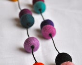 Funky & Bright Random Felt Necklace